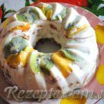 Летний торт с фруктами