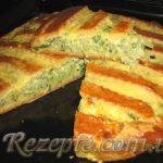 Луково-кабачковый пирог