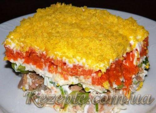 Салат с горбушей Мимоза