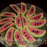 Печенье арбузные дольки