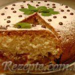 Пирог кокосовый со сливами в мультиварке
