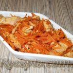 Салат с курицей и морковью