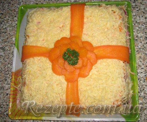 """Салат с телятиной и черносливом """"Подарок"""""""