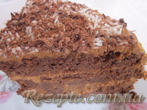 Шоколадный торт на кефире