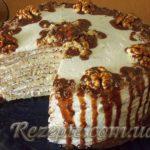 Торт из манно-овсяных блинов