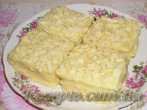 Торт НАПОЛЕОН с кремом из сгущенного молока