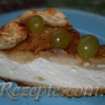 Творожный нежный пирог с грушами