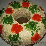 Салат с семгой Новый Год